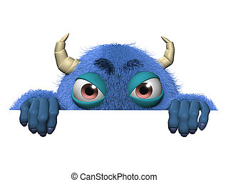 3d cartoon cute halloween monster