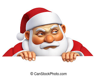3d cartoon evil santa