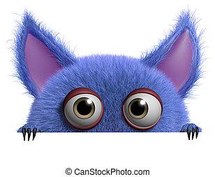 3d cartoon furry gremlin