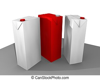 packaging - 3D cartoon packaging in white and red