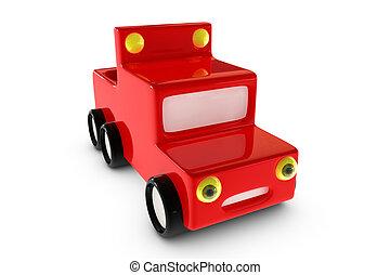 3d cartoon pickup car