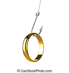 3d Caught a gold ring