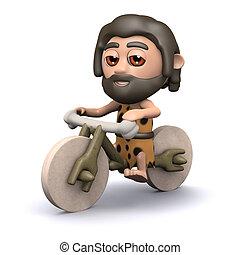 3d Caveman biker