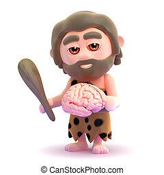 3d Caveman brain