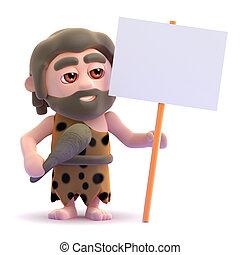 3d Caveman protests