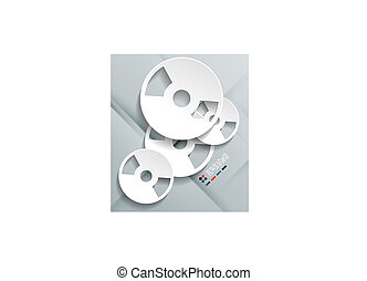 3d cd paper vector design