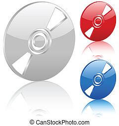 3D CD symbol