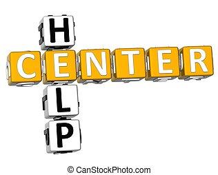 3D Center Help Crossword