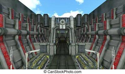 3D CG rendering of ancient ruins