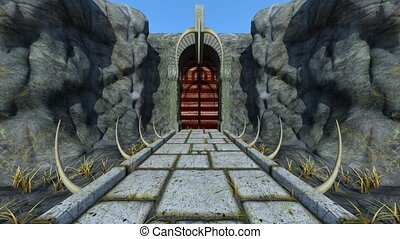 3D CG rendering of ancient ruins