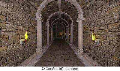 3D CG rendering of ancient ruins3D CG rendering of ancient...