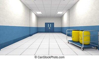 3D CG rendering of building hallway