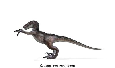 3D CG rendering of dinosaur