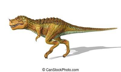 3D CG rendering of Dinosaurs