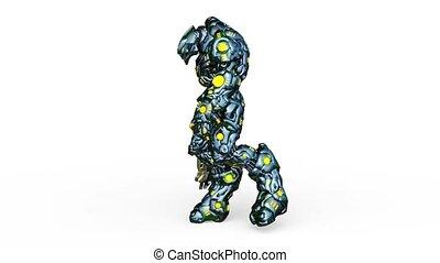 3D CG rendering of Humanoid
