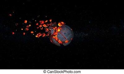 3D CG rendering of meteorite
