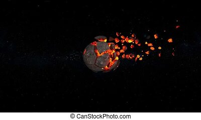 3D CG rendering of meteorite