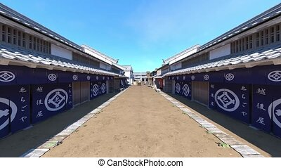 3D CG rendering of Old Japanese townscape