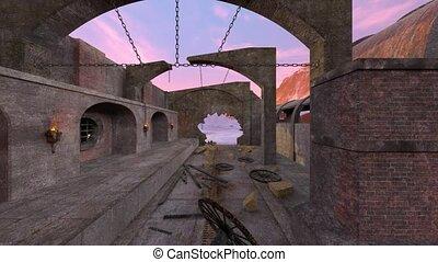 3D CG rendering of ruins