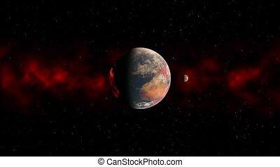 3D CG rendering of Space planet
