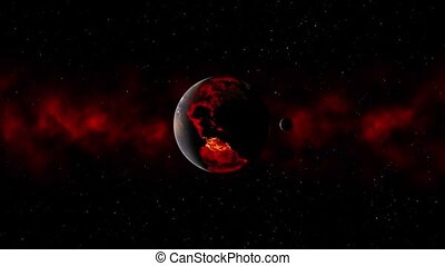 3D CG rendering of Space planet