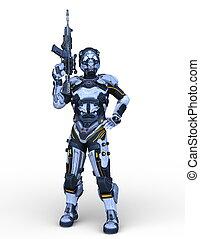 3d, cg, roboter, übertragung