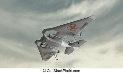 "Search and rescue drone. - ""3D CG, Search and rescue drone."""