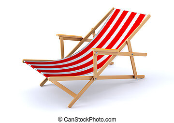 3d, chaise plage