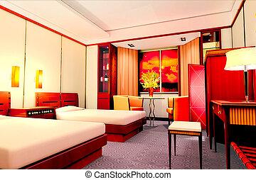 3d salles h tel rendre chambre coucher moderne for Conception chambre 3d