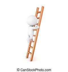 3D Character climbing a ladder