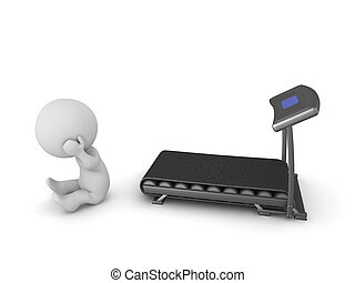 3D Character Does Not Want to Exercise