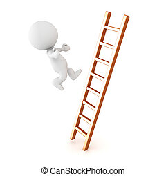3D Character falling off of ladder
