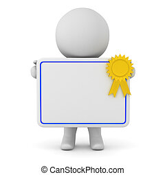 3D Character Holding a Diploma
