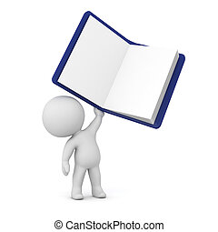 3D Character Holding Up a Notepad