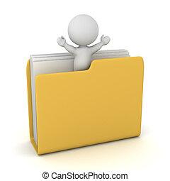 3D Character inside a Folder