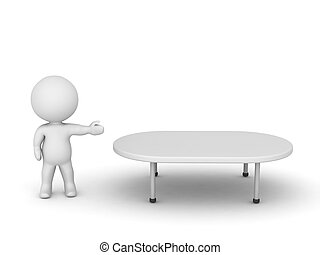 3D Character Showing Table