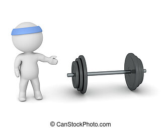 3D Character Showing Weights