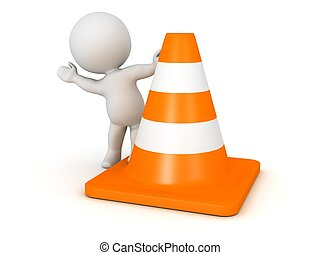 3D Character Waving from cone