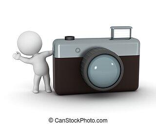 3D Character Waving From Fotocamera