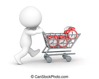 3D Character with Shopping Cart