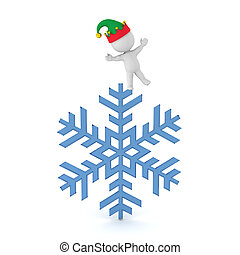 3D Character with Snowflake
