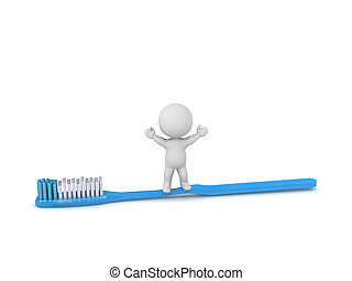 3D Character with Toothbrush