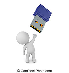 3D Character with USB Stick