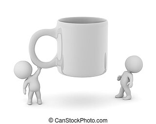 3D Characters with a Large Cup