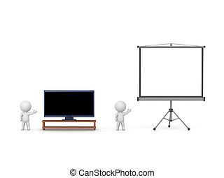 3d man watching tv Illustrations and Stock Art  202 3d man watching