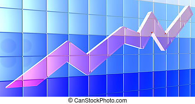 3D Chart - angle - 3D rendered chart.
