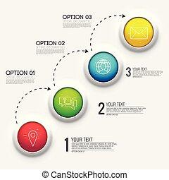 3d chart diagram business presentation. Realistic vector illustration design concept. Set of Infographic symbols elements graph bar