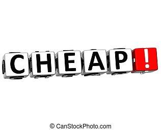 3D Cheap Crossword