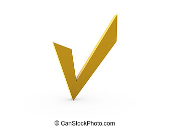 3d check gold yellow