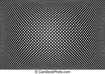 3D checked pattern. Convex geometric texture. Abstract black background.